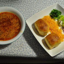 "Pea Soup - Street food ""Sev Usal"""