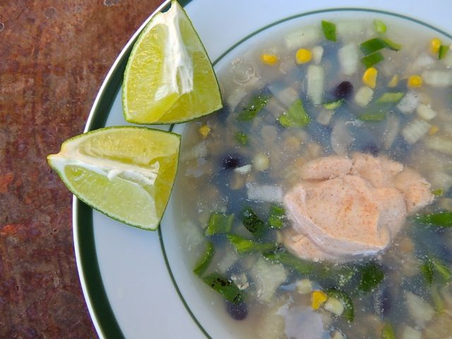 Speedy, Spicy Corn & Black Bean Soup