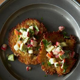 Golden Quinoa Cakes with Salsa Fresca