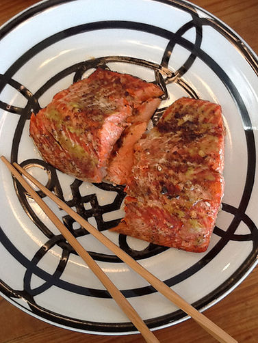 Wasabi & Ginger Roasted Salmon