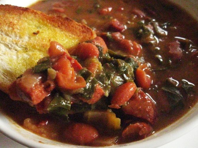 Frijoles Borrachos Meet Caldo Verde