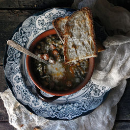 soup and bread by summersavory