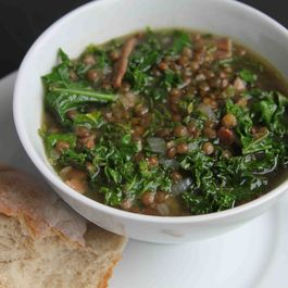 Kale, Lentil, and Bacon Soup