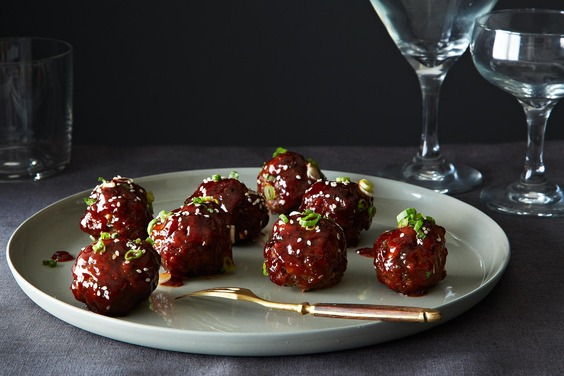 Spicy Korean-Style Gochujang Meatballs