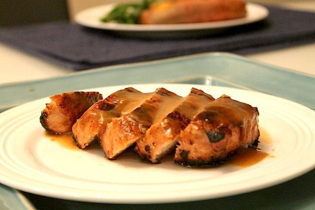 Five Spice Pork with Peach Glaze
