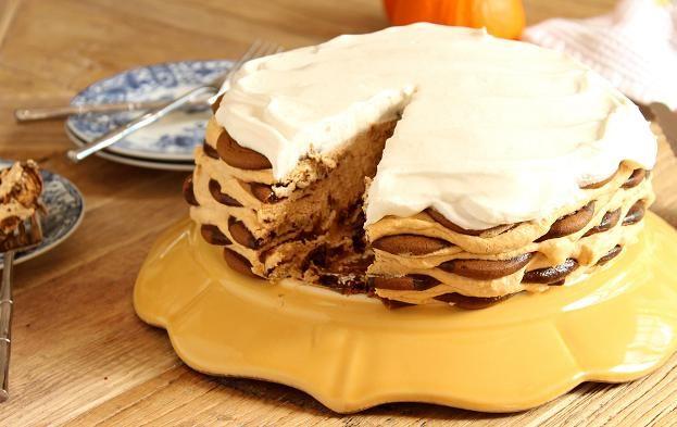 Ginger Snap Pumpkin Icebox Cake