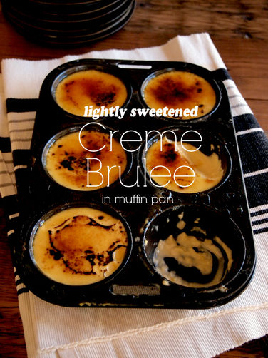 Creme Brulee in muffin pan