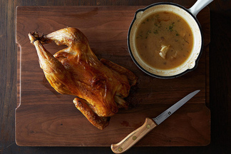 The Best Roast Chicken with Garlic and Herb Pan Sauce