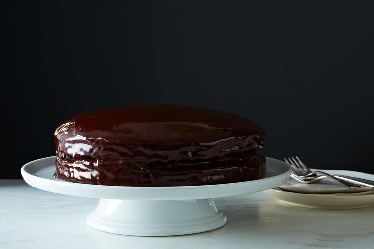 Vegan Chocolate Cake with Creamy Chocolate Filling by Gena Hamshaw