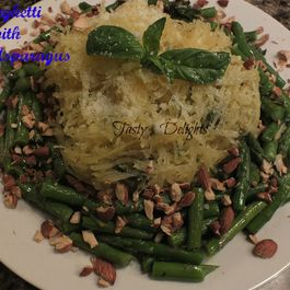 Pesto Spaghetti Squash with Asparagus