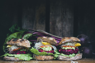 Beet and Feta Burgers