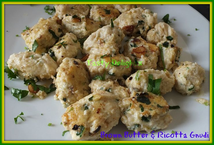Casarecci Gnudi with Browned Butter Sauce