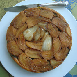 Fennel and zucchini tarte tatin