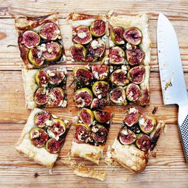 Fig and Blue Cheese Tart with Honey, Balsamic, and Rosemary