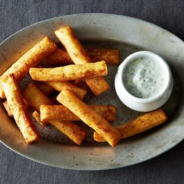 Chickpea Fries with Yogurt Dipping Sauce