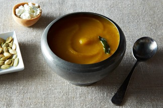 Pumpkin Beer and Goat Cheese Soup