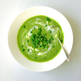 Fresh Thai-Inspired Pea Soup ~ A Quick Cure For The Winter Blues