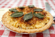 Stuffed Macaroni and Cheese Pie with Herbed Topping