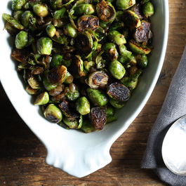 """Pot-Stuck"" Brussels Sprouts"