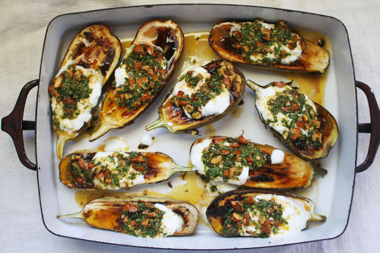 Roasted eggplant from Food52