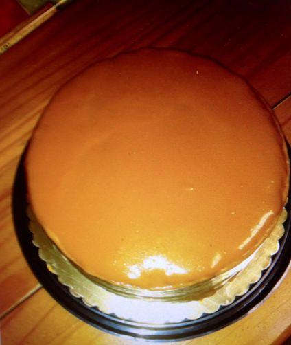 Velvety Caramel Custard Icing