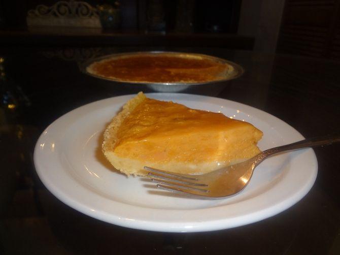 Sweet Potato Pudding Pie
