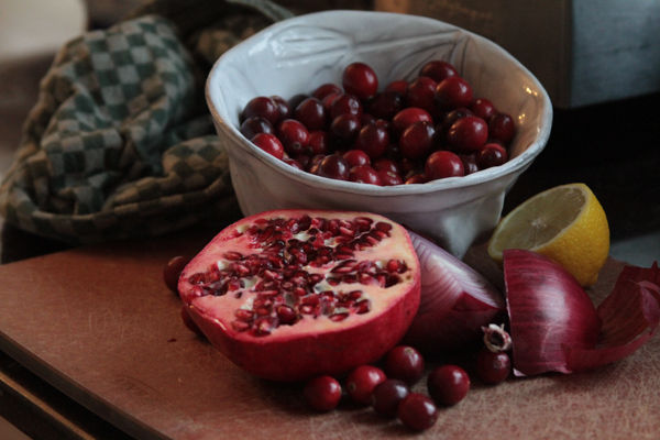 Cranberry Pomegranate Sauce: a Thanksgivukkah Tradition