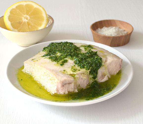 Baked fish with lemon herb sauce recipe on food52 for Lemon fish sauce recipe