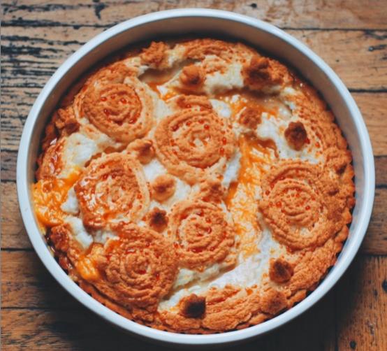 Meringue Mango Curd Pie