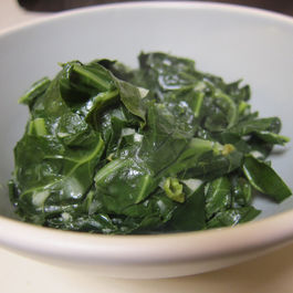 Braised Collard Greens in Spicy Coconut Milk Sauce
