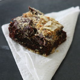 Mexican chocolate chickpea brownie