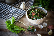 Sweet and Spicy Bitter Greens