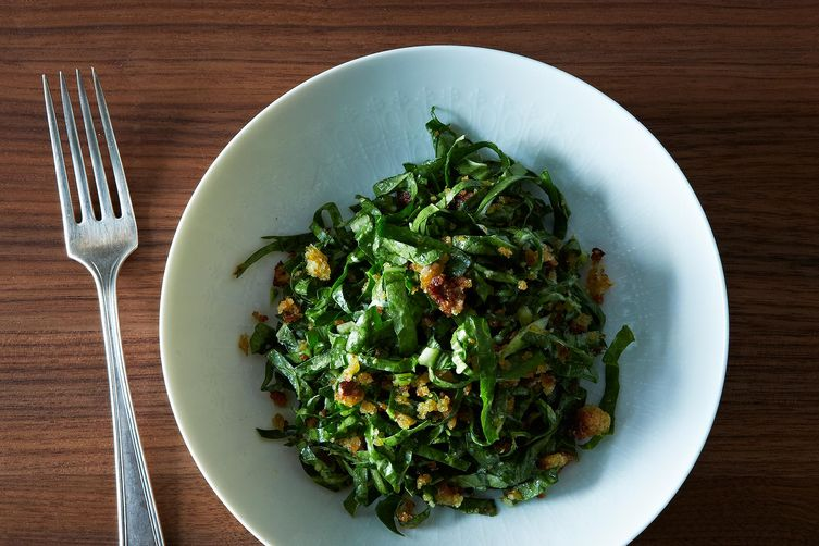 Chard Salad with Garlic Breadcrumbs and Parmesan from Food52