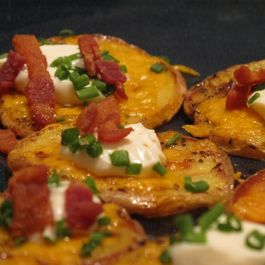 Loaded Crispy Potato Rounds