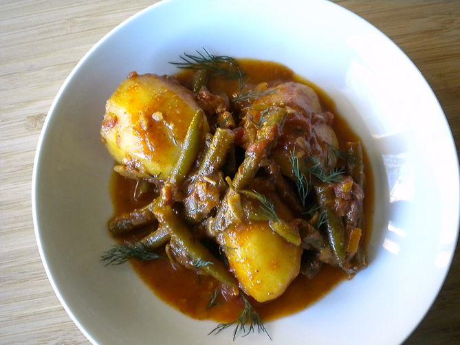 Balkan Potato, Paprika and Green Bean Stew