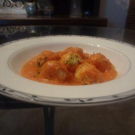 Potato Gnocchi with Tomato Cream Cheese Sauce