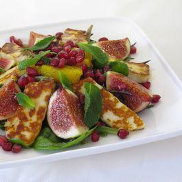 Halloumi, Fig and Pomegranate Salad