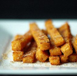 Baked Sweet Potato Polenta Fries