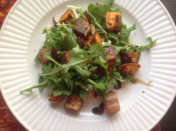 Sweet Potato and Tofu Almost-Thanksgiving Salad