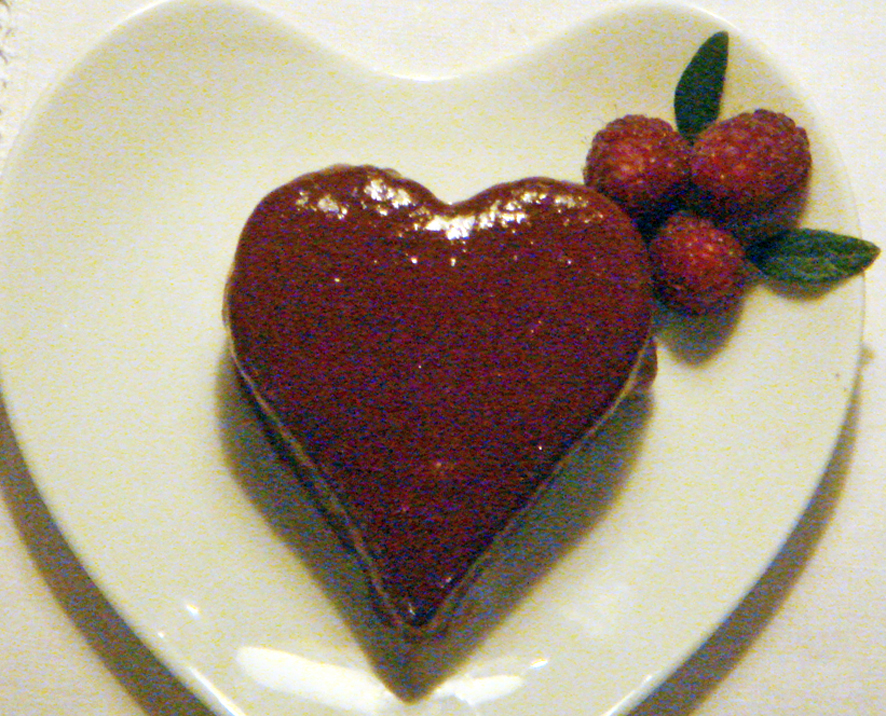 Valentine's Chocolate and Raspberry Cake