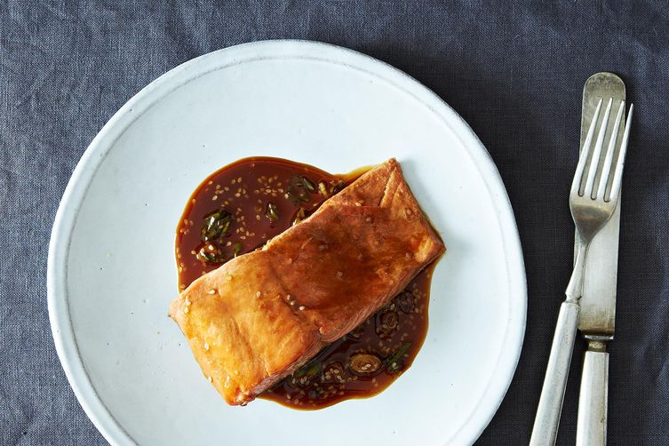 Teriyaki salmon from Food52