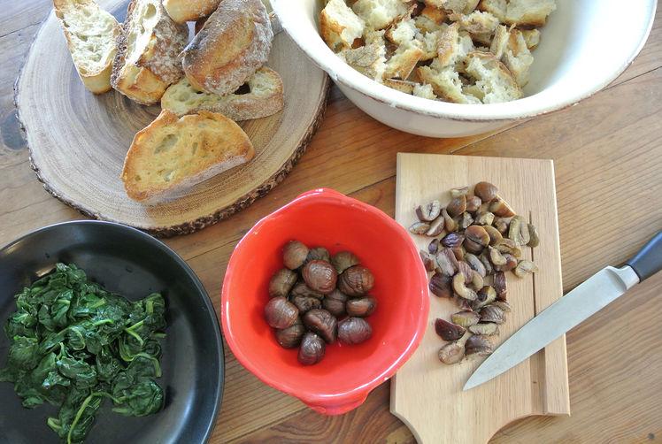 Mammina Loreta's Italian Sausage, Spinach & Chestnut Stuffing