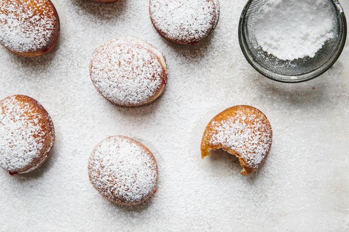 Cranberry Ginger Jam Doughnuts