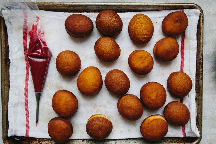 Cranberry-Ginger Jam Donuts