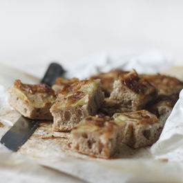 Onion and Potato Spelt Focaccia