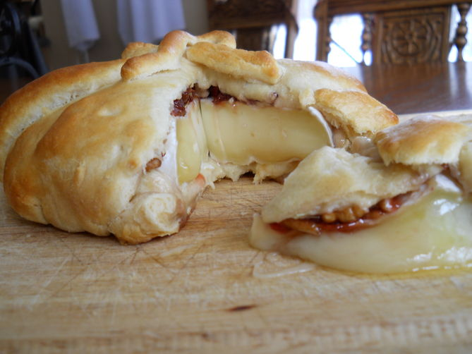 Cherry, Pecan and Rosemary Brie en croute Recipe on Food52