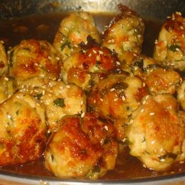 Lemon glazed meatballs by alflynn