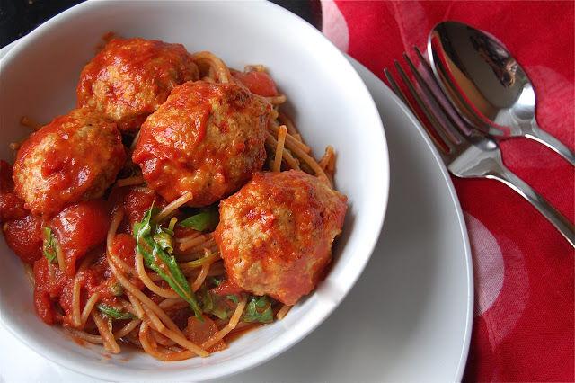 Spaghetti and Turkey Meatballs Recipe on Food52