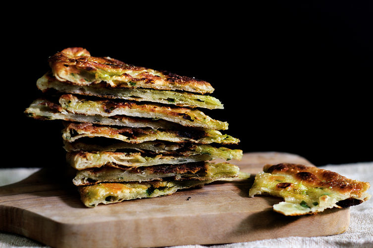 Multi-Layered Scallion Pancakes on Food52
