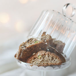 Brown Berry Pistachio Biscotti